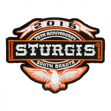 Shield- Like Sturgis South Dakota 75th Anniversary Eagle & Banner Embroidered Event Patch