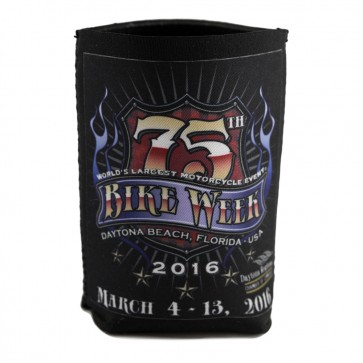 2016 Daytona Beach Bike Week 75th Official Collapsible Can Koozie