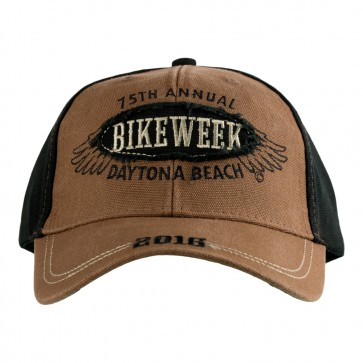 2016 Daytona Beach Bike Week Wing Patch Brown & Black Event Cap