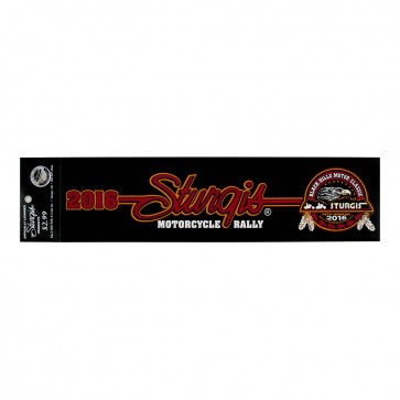 2016 Sturgis Black Hills Motor Classic Eagle With Buffalo & Feathers Bumper Sticker