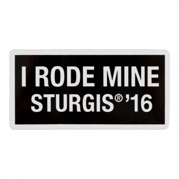 2016 Sturgis 76th Anniversary Motorcycle Rally I Rode Mine White Decal