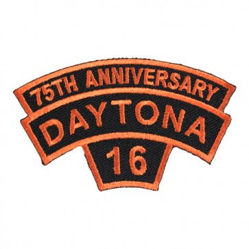 2016 Daytona Bike Week Tab Orange Rocker 75th Anniversary Event Patch