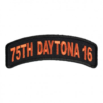 2016 Daytona 75th Orange Rocker Bike Week Event Patch