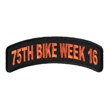 2016 Daytona 75th Bike Week Orange Rocker Event Patch