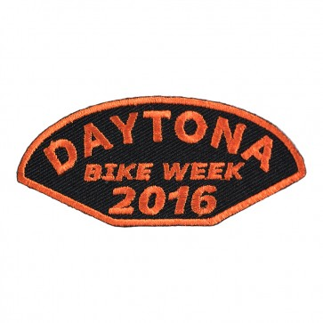 2016 Daytona Bike Week Half Moon Shaped Orange Event Patch