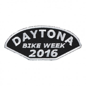 2016 Daytona Bike Week Half Moon Shaped White Event Patch