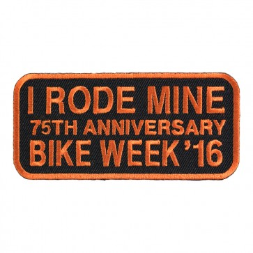 2016 Daytona Bike Week I Rode Mine Orange 75th Anniversary Event Patch