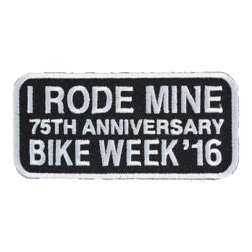2016 Daytona Bike Week I Rode Mine White 75th Anniversary Event Patch
