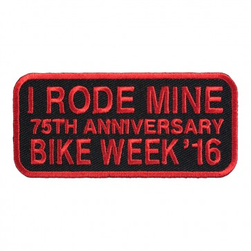 2016 Daytona Bike Week I Rode Mine Red 75th Anniversary Event Patch