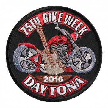 2016 Daytona Bike Week 75th Guitar & Motorcycle Event Patch