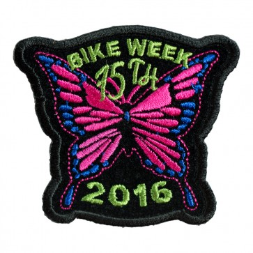 2016 Daytona Bike Week 75th Pink Butterfly Event Patch