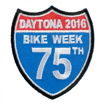 2016 Daytona Bike Week 75th Road Sign Event Patch