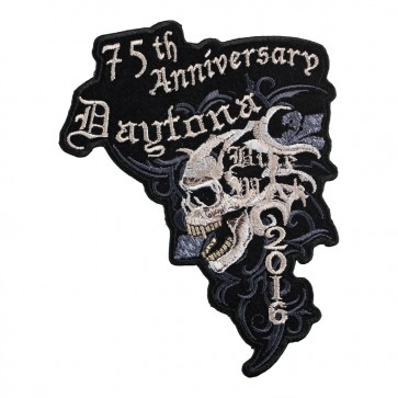 2016 Daytona Bike Week 75th Anniversary Marble Skull Event Patch