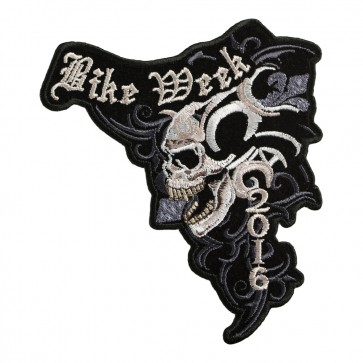 2016 Daytona Bike Week Marble Skull Event Patch