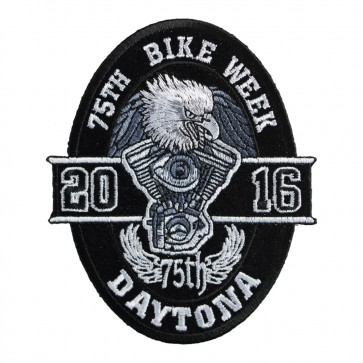 2016 Daytona Bike Week 75th Black Oval Eagle Event Patch