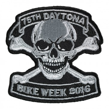2016 Daytona Bike Week 75th Skull & Crossbones Event Patch