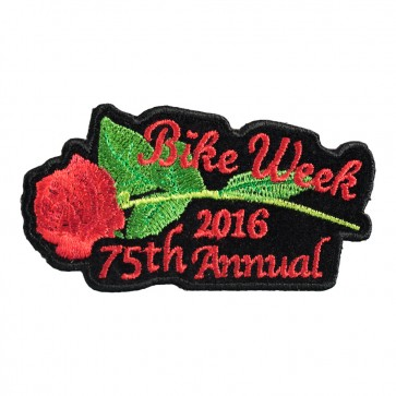 2016 Daytona Bike Week 75th Annual Red Rose & Stem Event Patch