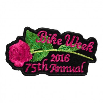 2016 Daytona Bike Week 75th Annual Pink Rose & Stem Event Patch