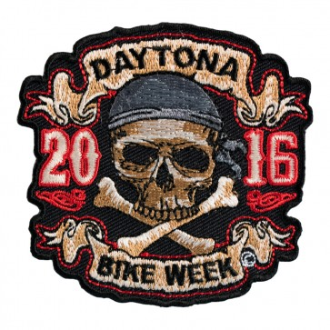 2016 Daytona Bike Week Skull & Crossbones Pirate Event Patch