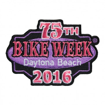 2016 Daytona Beach 75th Bike Week Pink & Black Event Patch