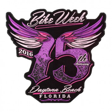 2016 Daytona Bike Week Ladies Winged 75th Purple & Pink Event Patch