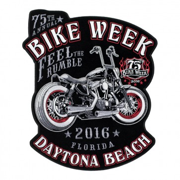 2016 Daytona Bike Week Vintage Motorcycle 75th Anniversary Event Patch, Large Size