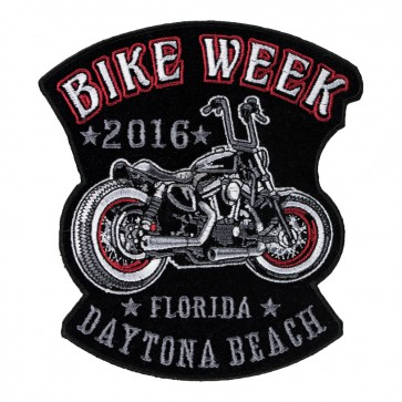 2016 Daytona Bike Week Vintage Motorcycle 75th Anniversary Event Patch, Small Size