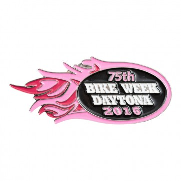 2016 Daytona Bike Week 75th Pink Flames Event Pin