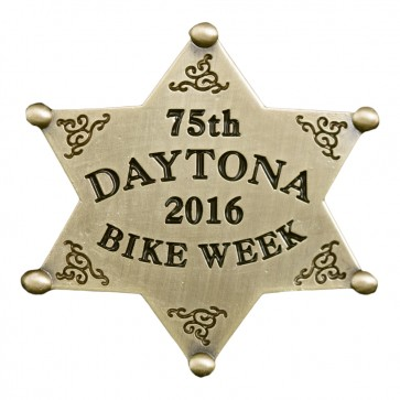 2016 Daytona Bike Week 75th Western Sheriff Star Gold Event Pin