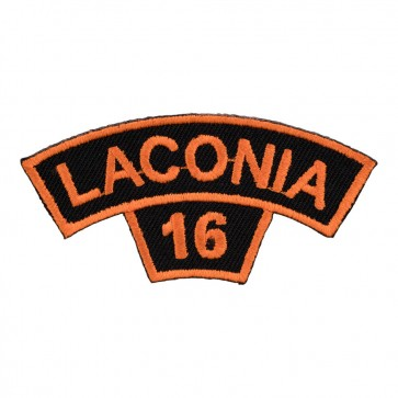 2016 Laconia Tab Orange Rocker Sew On Event Patch
