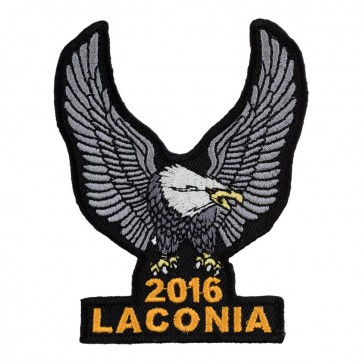 Embroidered 2016 Laconia Silver Eagle Upwing Event Patch