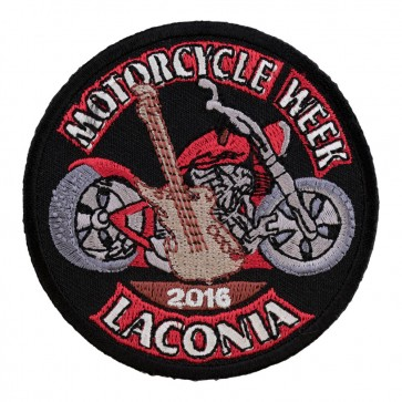 2016 Laconia Guitar & Motorcycle Embroidered Anniversary Patch