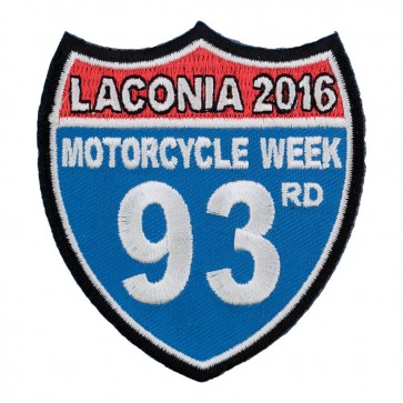 2016 Laconia Red White & Blue Road Sign Event Patch