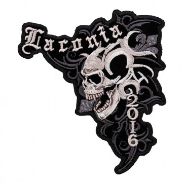 2016 Laconia Marble Skull Embroidered Event Patch
