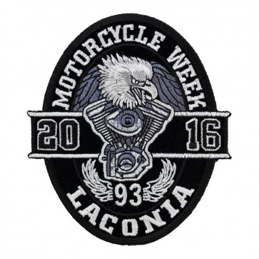 93rd Annual Laconia Black Oval Eagle Event Patch