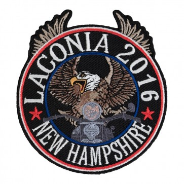 2016 Laconia Riding Eagle Patriotic Sew On Event Patch