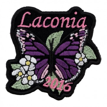 2016 Laconia Purple Butterfly Pink Flowered Event Patch