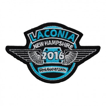 2016 Laconia Turquoise Blue & White Wings Event Patch