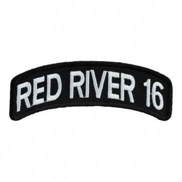 Embroidered 2016 Red River White Rocker Event Patch