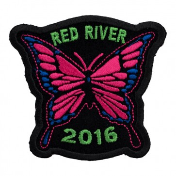 34th Annual 2016 Red River Pink Butterfly Event Patch