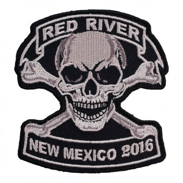 2016 Red River Tan Skull & Crossbones Event Patch
