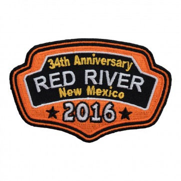 2016 Red River Orange Plaque Iron On Event Patch
