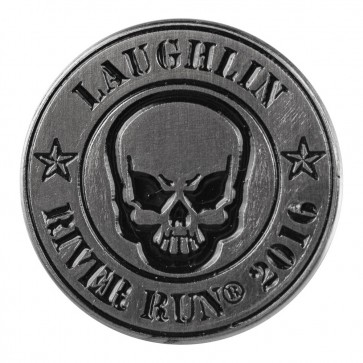 2016 Laughlin River Run Round Skull 34th Anniversary Event Pin