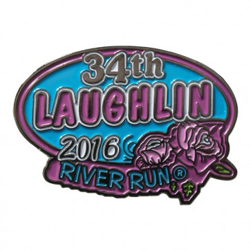 2016 Laughlin River Run Blue Oval Rose 34th Anniversary Event Pin