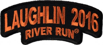 34th Annual Laughlin River Run Stacked Orange Rocker Event Patch