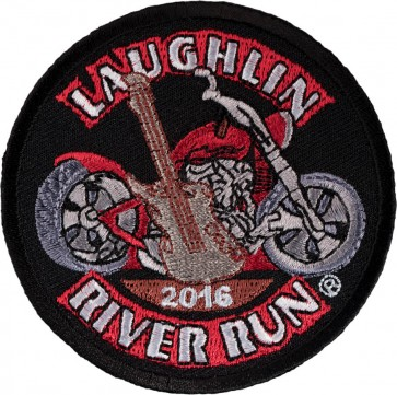 Embroidered 34th Anniversary Laughlin River Run Guitar & Motorcycle Event Patch