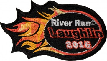 24th Anniversary Laughlin Orange Flames 2016 Event Patch