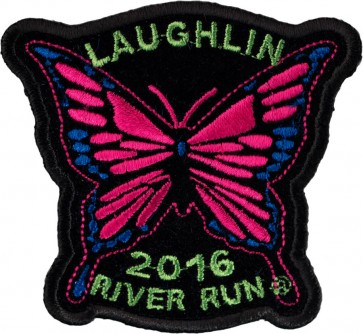 2016 Laughlin River Run Pink Butterfly Sew On Event Patch