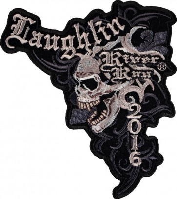 Sew On 2016 Laughlin River Run Marble Skull Event Patch