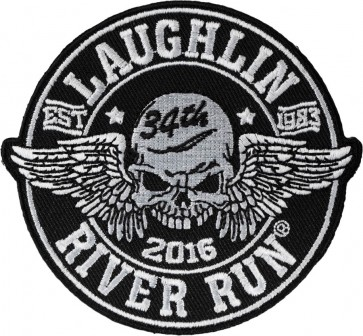 34th Annual Laughlin River Run Winged Skull Event Patch